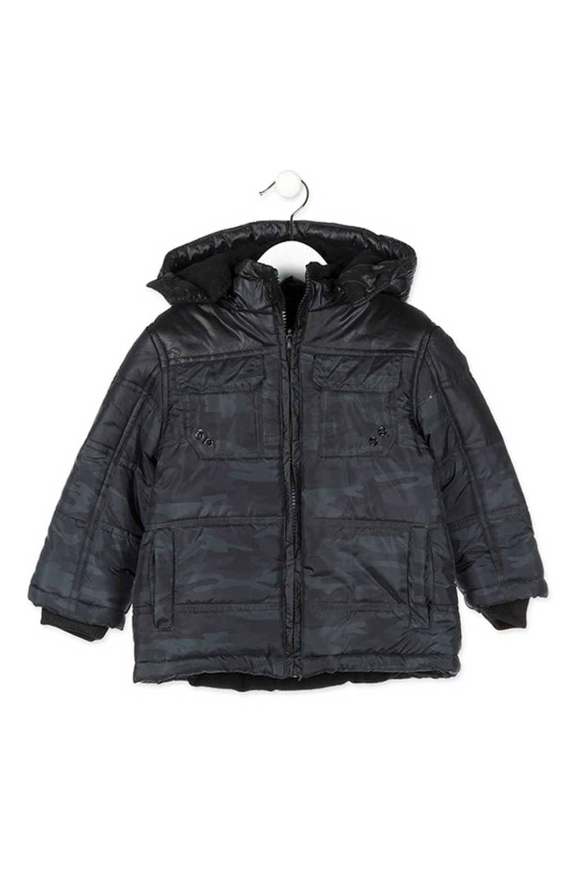 Losan Male Child Camouflage Hooded Coat 057-8252009-038
