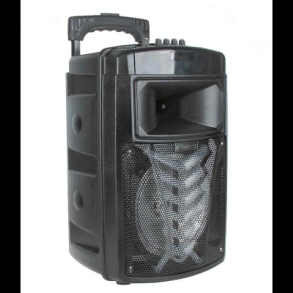 """Système de haut-parleurs haut-parleur OM & S MR-213A 8 """"comprenant un casque bluetooth et une clé USB amplificateur de son haut-parleur combo"""