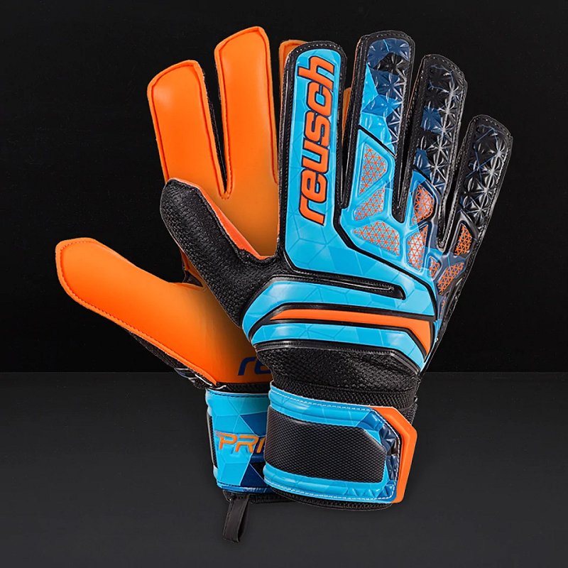 REUSCH PRISMA 3870005-998 BLUE BLACK ORANGE GOALKEEPER GLOVES NO 7 PROFESSIONAL FOOTBALL  MATCH EURO 2020 FIFA SOCCER
