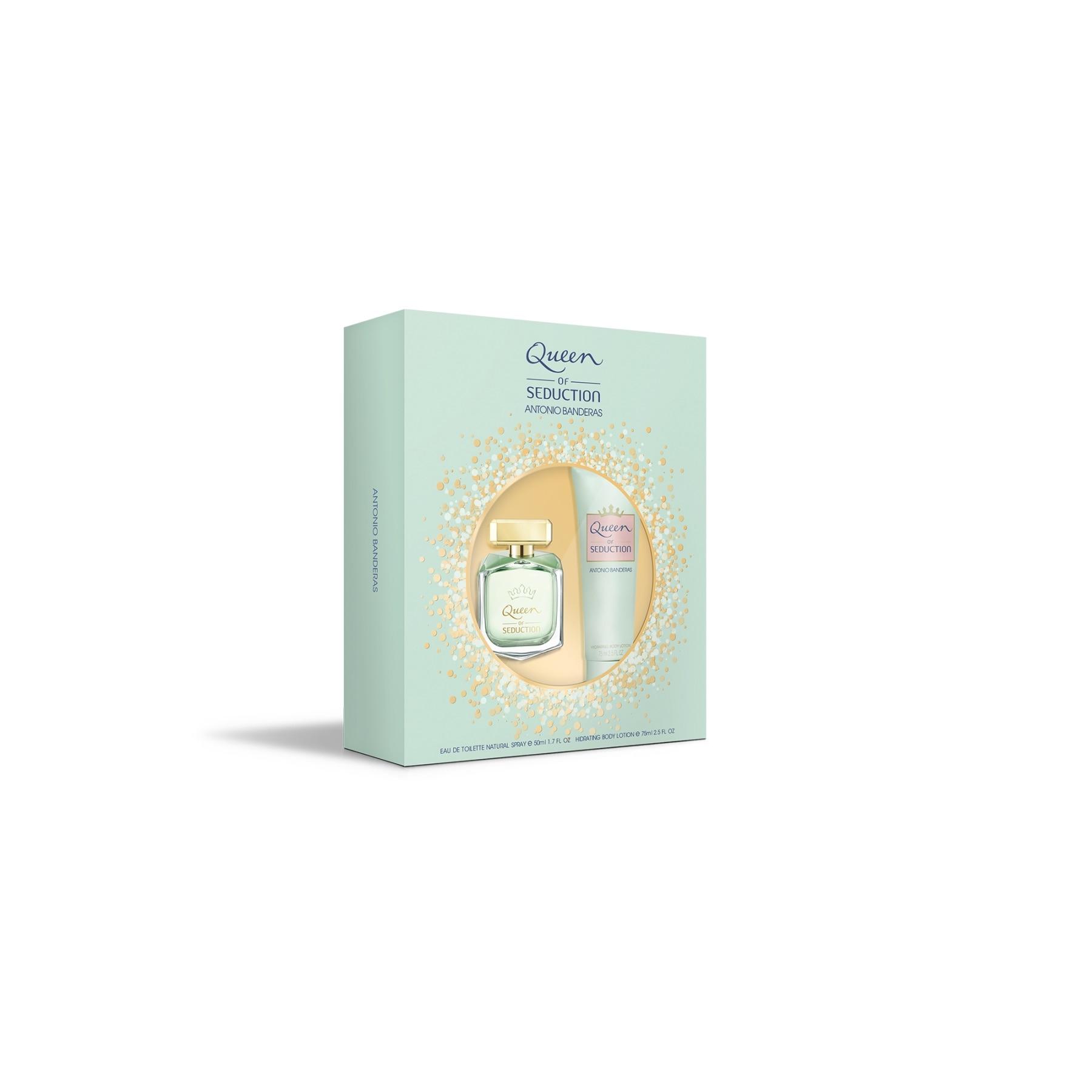 Perfume Antonio Banderas Queen Of Seduction W Set Eau De Toilette Perfume 50 Ml + Body Lotion 75 Ml