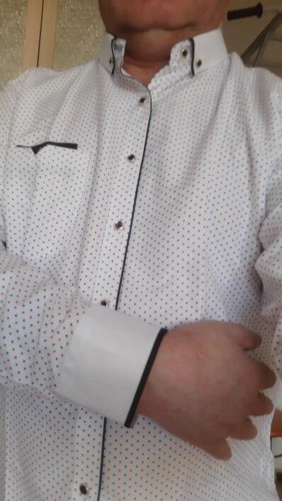 Fashion Print Casual Men Long Sleeve Shirt Stitching Fashion Pocket Design Fabric Soft Comfortable Men Dress Slim Fit Style 8XL