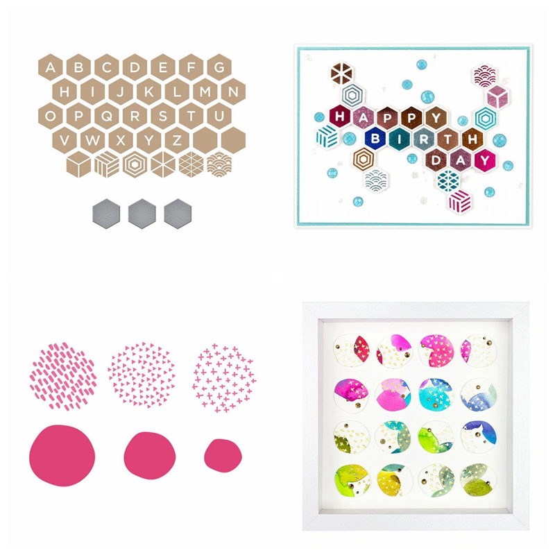 Diamond Shape 26 Alphabet Many Dots Background Hot Foil Plates Match Cutting Dies Scrapbook DIY Card Album Make Crafts New 2020