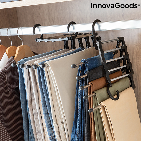 5-in-1 Multiple Trouser Hanger Hanglite InnovaGoods