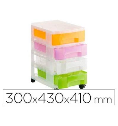 FILE DRAWERS FLOOR FILE 2000 TRANSLUCENT 4 DRAWERS COLORS TRANSLUCENT ASSORTED WITH WHEELS