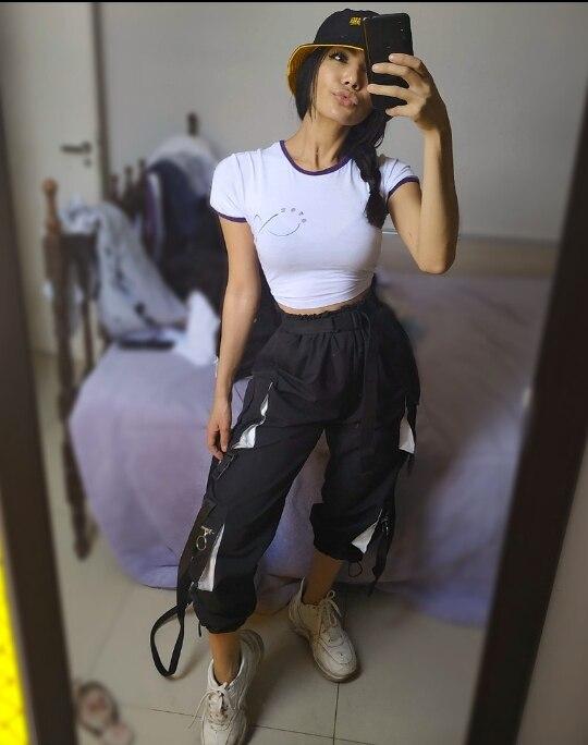 Calças e capris qualidade calças corredores