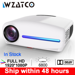 WZATCO C2 1920*1080P Full HD LED Projector with 4D Digital Keystone 6800Lumens Home Theater Portable HDMI Beamer LED Proyector(China)