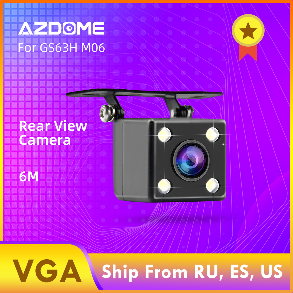 AZDOME Car Rear View Camera 2.5mm (4Pin) Jack Port Video Port With LED Night Vision For GS63H M06 M02 A305 Dash Cam Waterproof