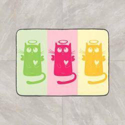 Anders Groen Roze Geel Katten 3d Patroon Afdrukken Anti Slip Decoratieve Vloer Deur Mat Thuis Hal Woonkamer-in Tapijt van Huis & Tuin op