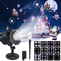Рождественский лазерный проектор с дистанционным управлением для помещений и улицы  12 моделей  анимационный эффект  снежинка  снеговик  Рож...