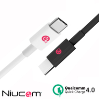 Cable USB Tipo C PD para móvil Xiaomi, Huawei, Oppo, iPhone, Samsung carga rápida Qualcomm Quick Charge 4.0 tipo C PD
