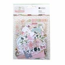 CRZCrafter 114 sztuk papier z nadrukiem Diecuta kształty papieru Ephemera folia wzory rzemiosło Scrapbooking Cardmaking Journal upiększeń