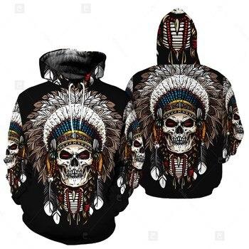 Native American 3D Print Men's Hoody Hoodies Indian Skull Dream Catcher Sweatshirt Unisex Casual Hoodie Streetwear Tracksuit Top mancera indian dream