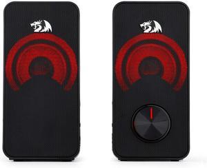 Image 3 - Redragon GS500 Stentor gry komputerowe głośnik, 2.0 kanałowy pulpit Stereo głośnik komputerowy z czerwone podświetlenie i jakości bas