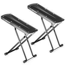 Neewer 2 Pack Guitar Foot Rest, Solid Iron, Provides Six Adjusted Height Positions