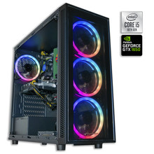 Ordenador de Sobremesa Pc Gaming Intel Core i5-10400F 16GB DDR4 Disco Duro 480GB SSD SATA + 1TB GTX1650 4GB USB3.0, HDMI