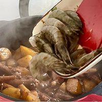 土豆鸡爪鲜虾的做法图解12