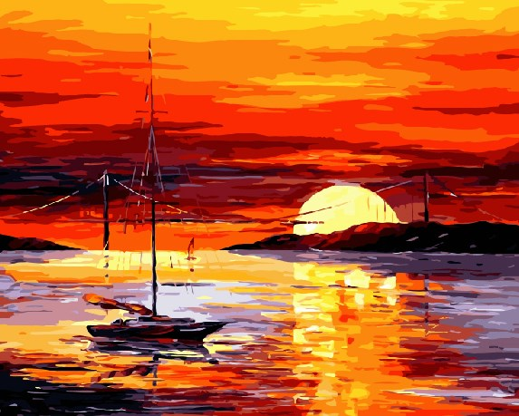 Painting By Numbers GX 9024 Sunset 40*50