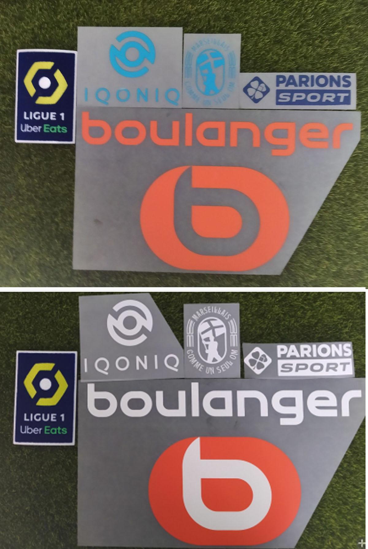 Badge pour éponges de Marseille, en Ligue 1, Comme Un seul OM Log, 2020 – 2021