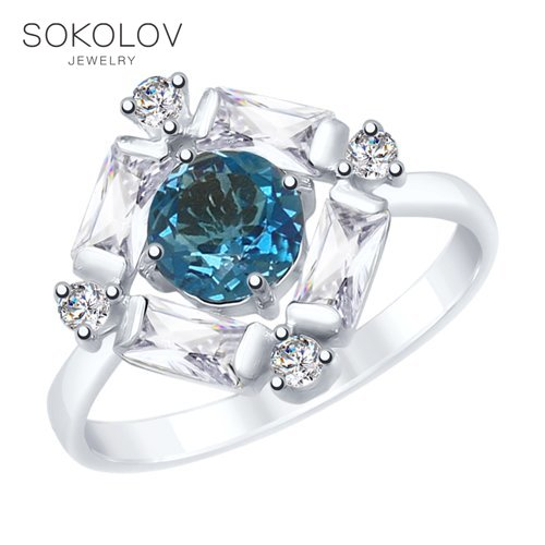 SOKOLOV Ring Of Silver Fashion Jewelry 925 Women's Male