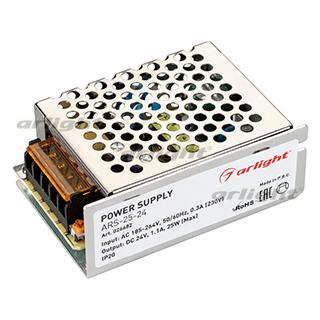026682 Power Supply Ars-25-24 (24V, 1.1a, 25W) Arlight Box 1-piece