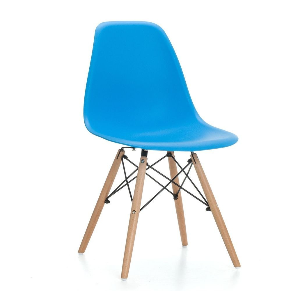 Chair TOWER PP, Wood, Polypropylene Blue