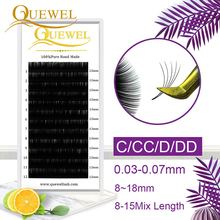 Quewel Blooming Eyelashes Extension Automatic Flowering Bloom Eyelash Self-making Lash Easy Fan Natural Dense Handmade