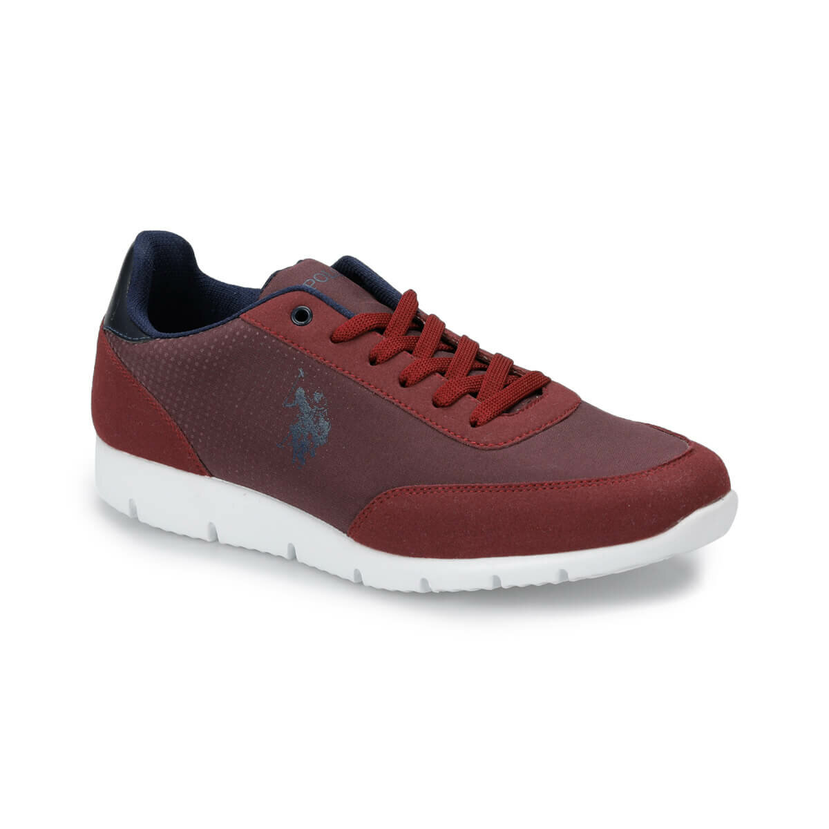 FLO BONE Burgundy Men 'S Sneaker Shoes U.S. POLO ASSN.
