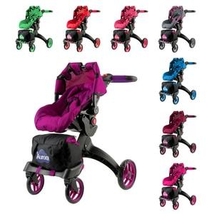 Cochecito de muñeca, juguetes para niños, muebles de muñecas, casa de muñecas, juguete educativo 12 en 1 y BUGGY BOOM Aurora Collection.