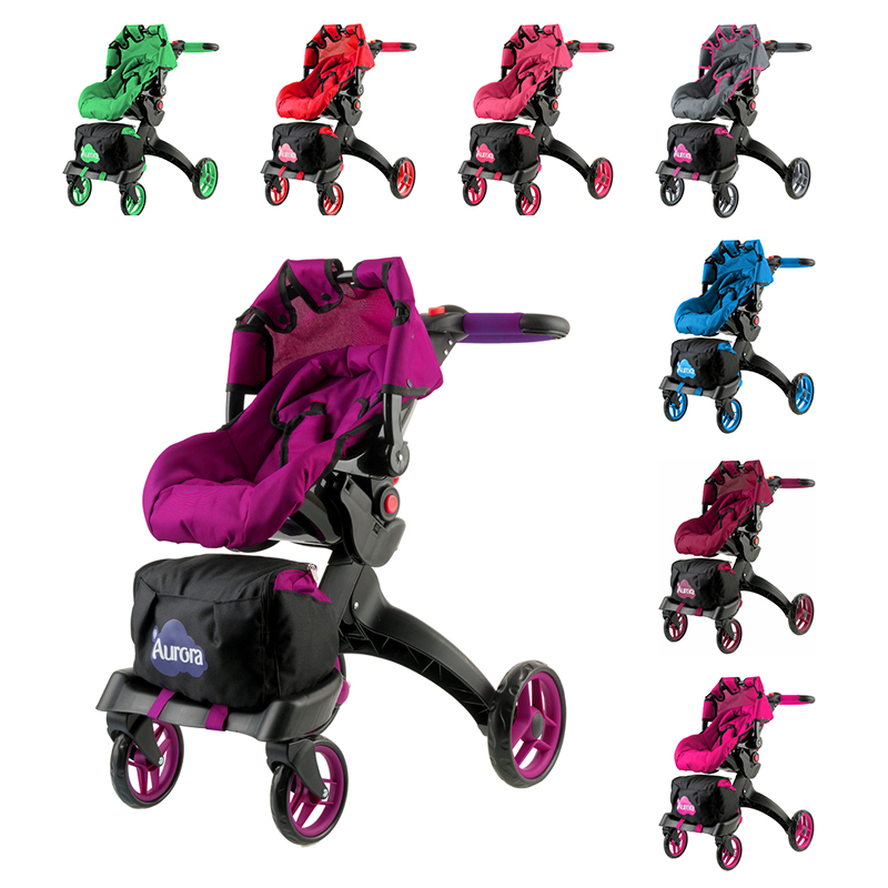 Doll Stroller- Toys For Children- Doll Furniture-Doll House-  Educational Toy 12 In 1 &BUGGY BOOM Aurora Collection.
