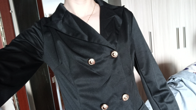 Women Black Blazer Office Formal Long Sleeve Coat New Long Autumn Double-breasted Slim Sexy Ladies Office Wear Coat Outwear 2019 reviews №4 16164