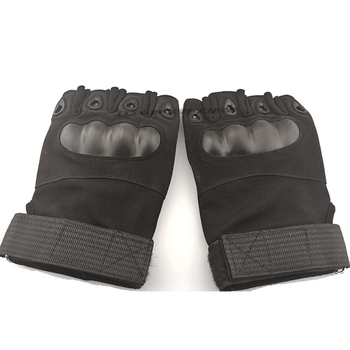 Tactical Hard Knuckle Half finger Gloves Men's Army Military Combat Hunting Shooting Airsoft Paintball Police Duty - Fingerless 4
