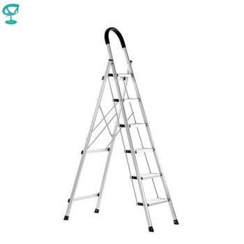 95677 Barneo ST-26 ladder aluminum 6 stages single side max load 150 kg free shipping to Russia