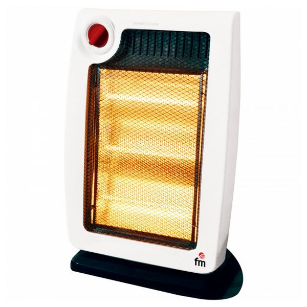 Electric Halogen Heater Grupo FM H20 1200W White/black