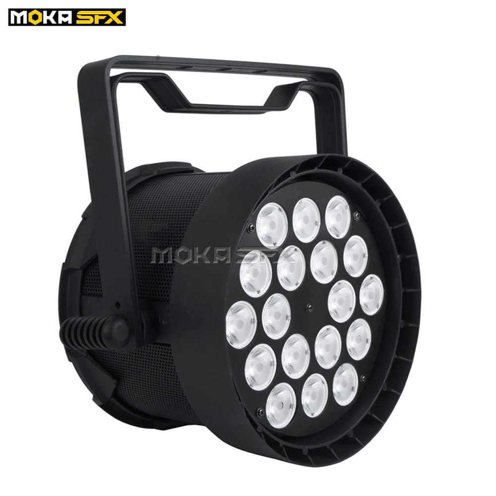 2pcs/lot Wash LED DMX Light 18*18W Par Light 4in1 And 6in1 LED DJ Light Patch Lamp Beads Stage Lighting For DJ Nightclub Party