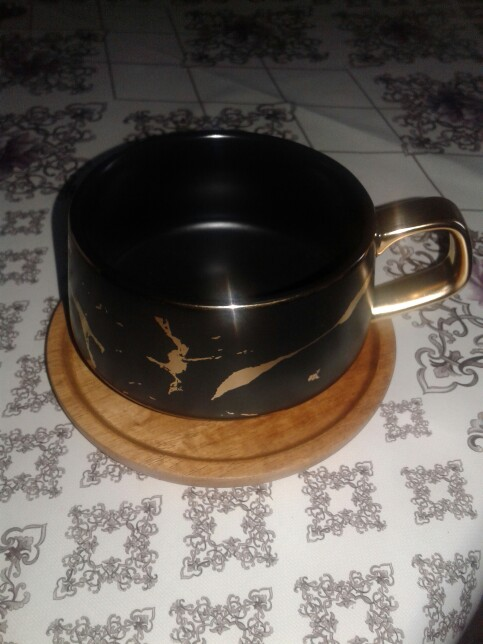 Tuva Ceramic Marble Gold Cup photo review