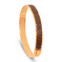 Hot Sale New Fashion Classic Pave Women's Bangles For Women Rose Gold Color Rhinestone Bracelet Cuff 6 Color Trendy Jewelry
