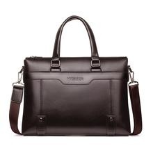 Famous Brand Men Briefcase PU Leather Laptop Briefcases Male