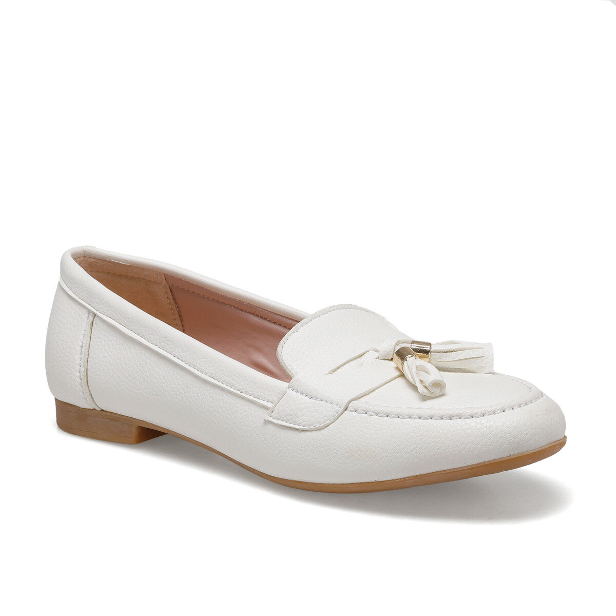 FLO DS20051 White Women Loafer Shoes Miss F