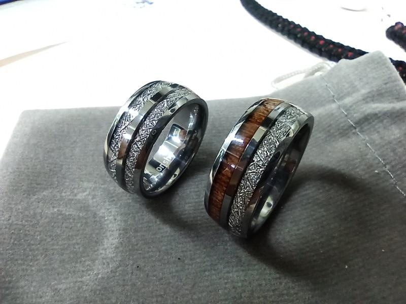 Bague météorite et tungstène pour hommes