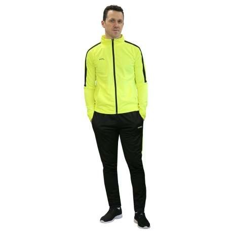 CHANDAL SOFTEE TEAM ADULTO - TALLA XL - COLOR AMARILLO FLUOR Y NEGRO