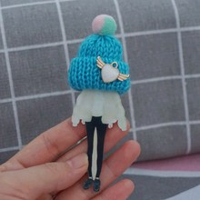 Woman girl acrylic pins brooch  Accessories Fashion cartoon Brooch Badge Pin Collar brooch Jewelry Gift sexemara new fashion acrylic ethnic girl brooch badge colorful exaggerate headwear personality figure brooch pins for women gift