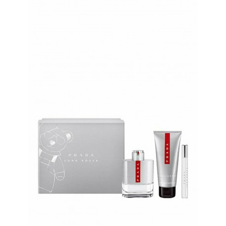 PRADA LUNA ROSSA EDT 100ML SPRAY + SHOWER GEL 100ML + 10ML MINI EDT