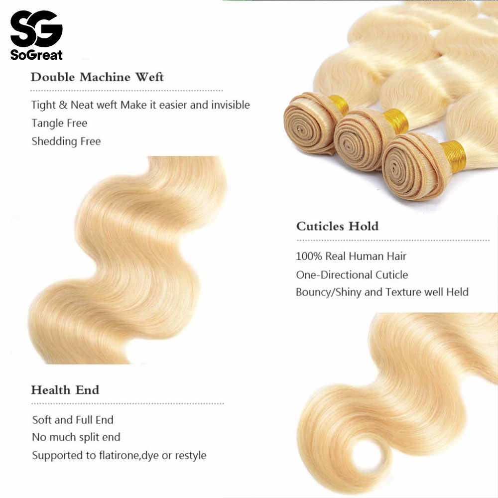 Blonde 613 Body Wave Braziliaanse Haar Weefsel Bundels 30 Inch Natuurlijke Menselijk Haar Bundels Uitbreiding 3 Stuks Voor Zwarte Vrouwen firstwig