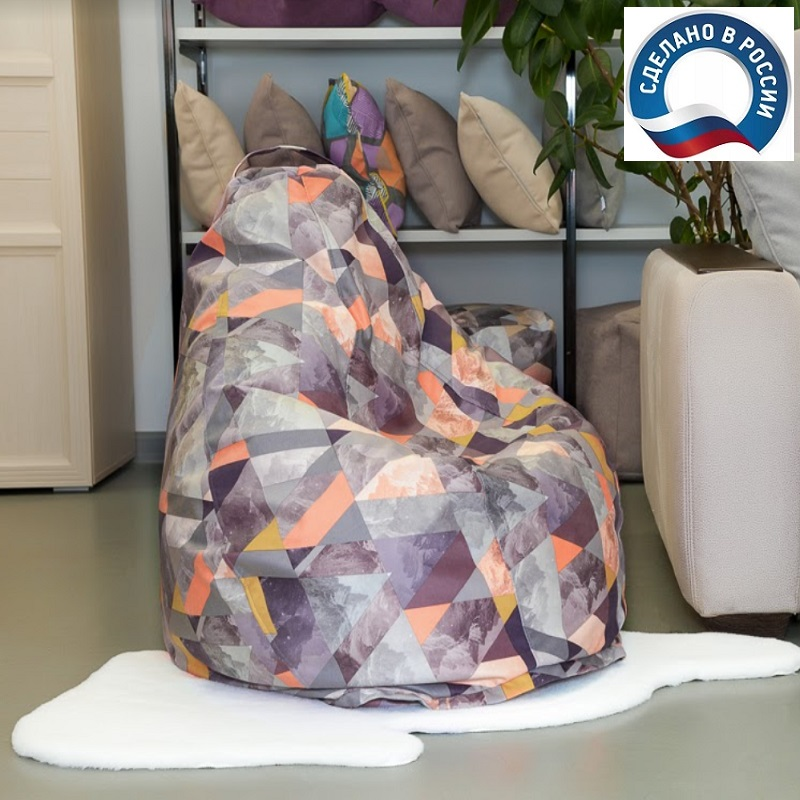 Lima-pouf Chair Bag Delicatex Multicolor