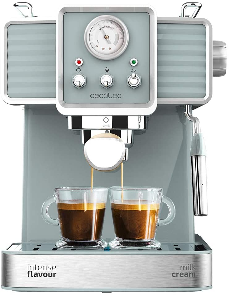 Cecotec cafétéria Express puissance expresso 20 Tradizionale para espressos et cappuccinos