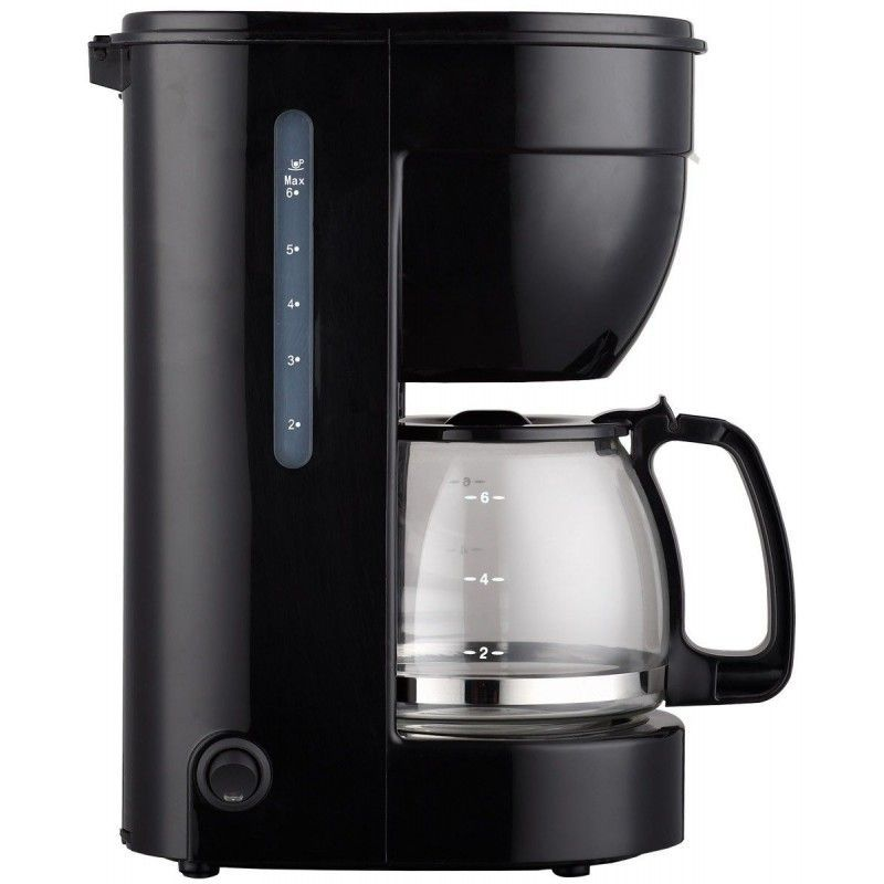 THULOS, Electric Coffee Machine With Capacity For 6 Cups, Tank 0.75L Black Color. With Glass Jar Of And Drip Stop System.