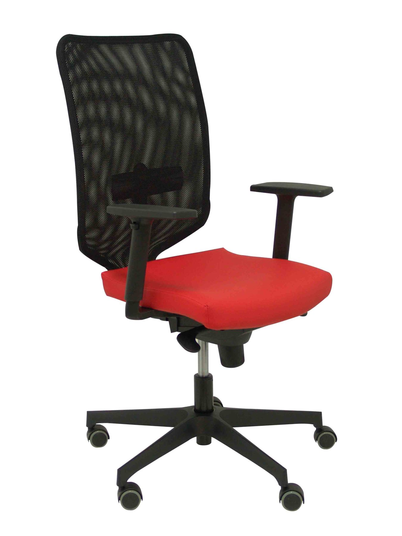 Ergonomic Office Chair With Mechanism Synchro And Height Adjustable Mesh Back In Black Color And Seat Tapi