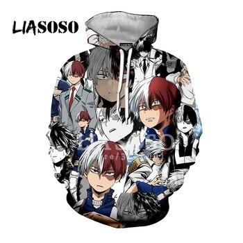 LIASOSO New Anime Comics Boku No Hero Academia Bakugou Katsuki 3D Print Unisex Hooded Hoodies Sweatshirts Harajuku Tops X2780