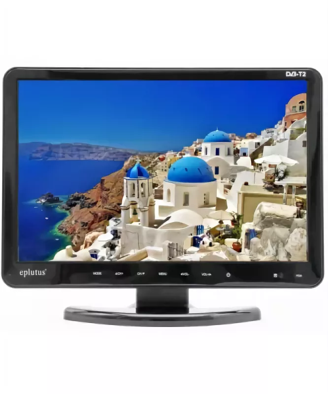 Car TV Eplutus EP-1608T C DVD Works Format Digital Broadcast DVB-T2, 16 Inch 1920*1080