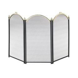 Fireplace screen Brass/Black Color 98x61 (alt) cm.